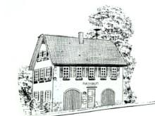 Zeichnung des Gaugenwalder Rathauses