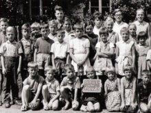 Schulkasse in Gaugenwald um 1964 und 1965